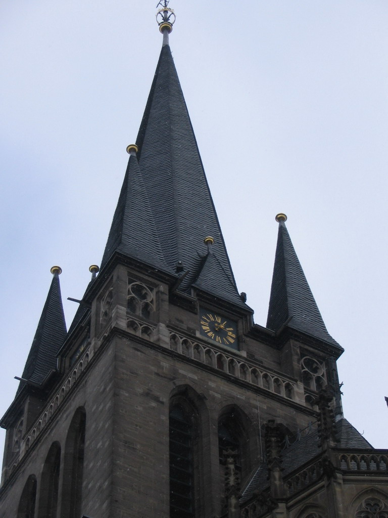 Tower of the Aachen Cathedral, viewed from the Spitzg�sschen street