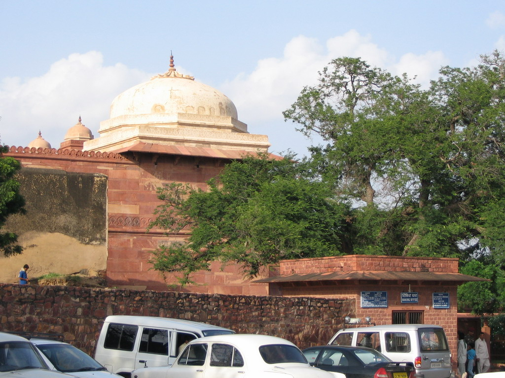 Top of Salim Chishti`s Tomb at the Fatehpur Sikri Palace