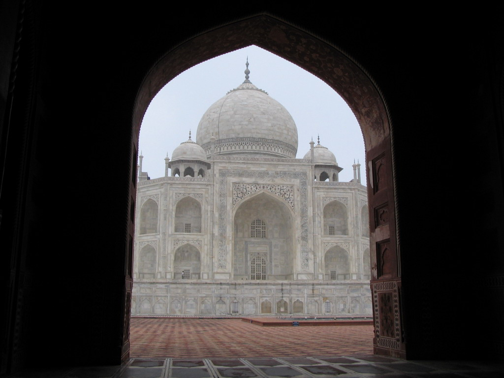 Taj Mahal from the mosque on the left side