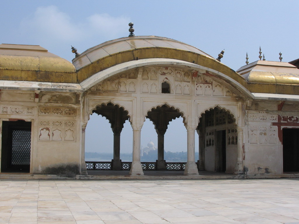 Pavilion at the Khas Mahal palace at the Agra Fort
