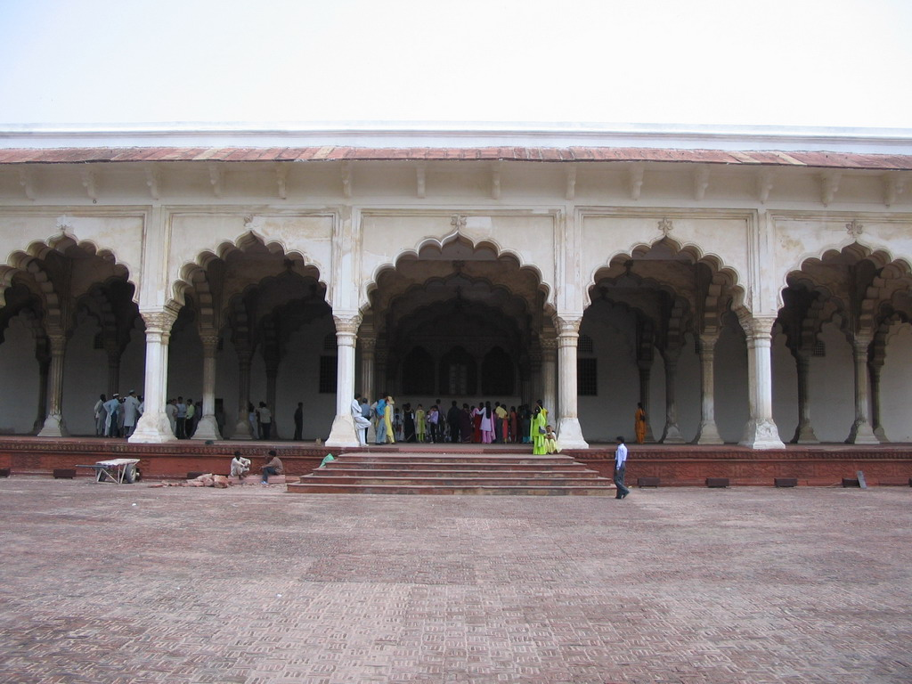Front of the Diwan-I-Am hall at the Agra Fort
