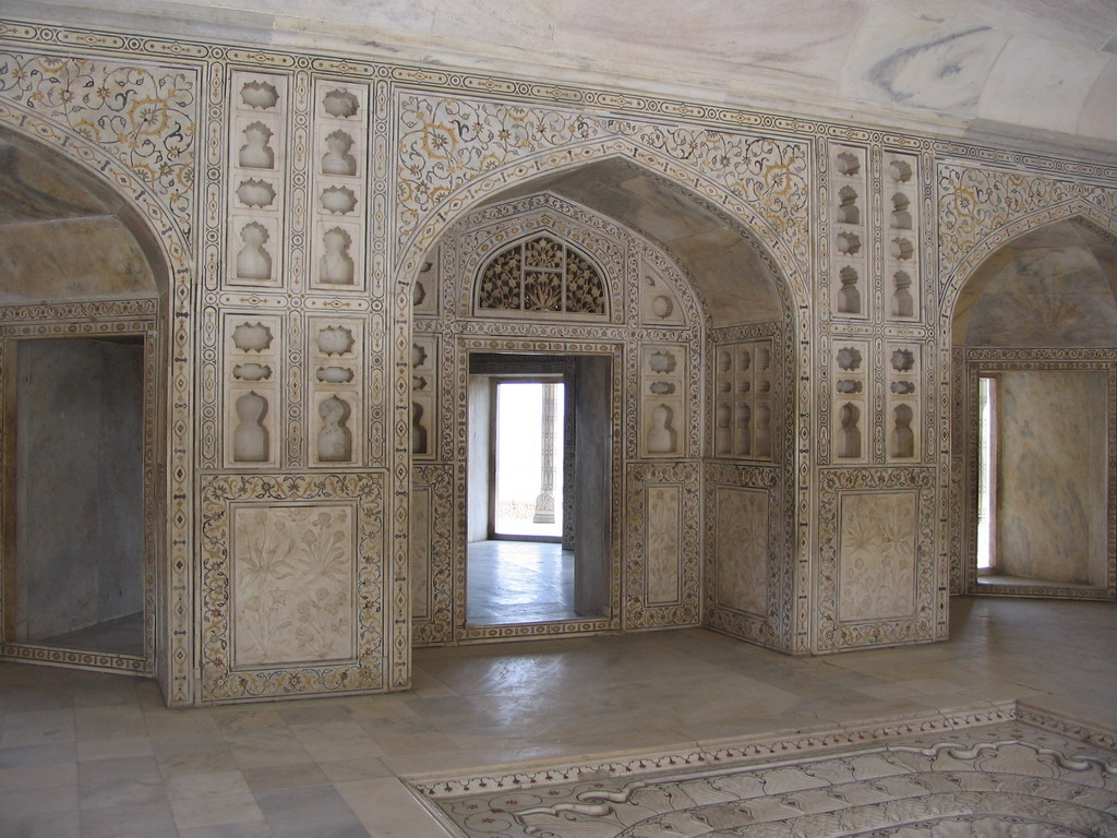 Interior of the Khas Mahal palace at the Agra Fort