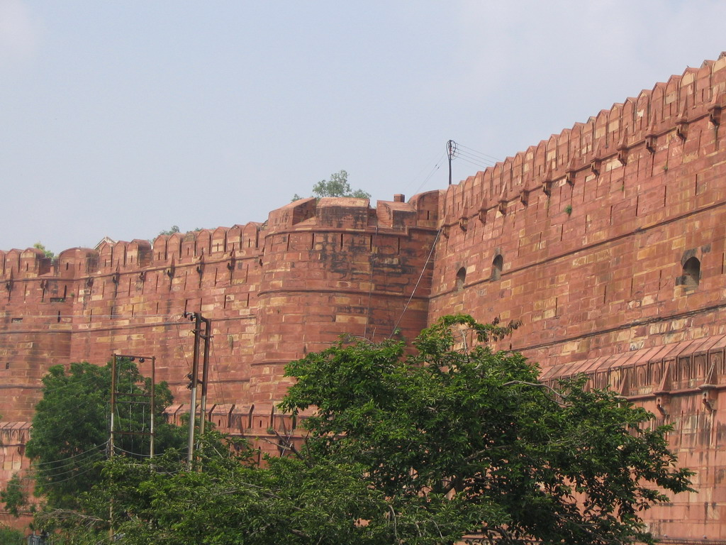 Front left walls of the Agra Fort