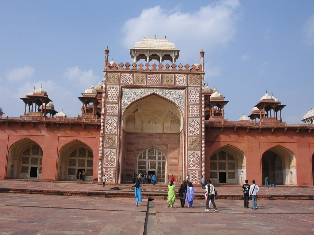 Front of Akbar`s Tomb at Sikandra