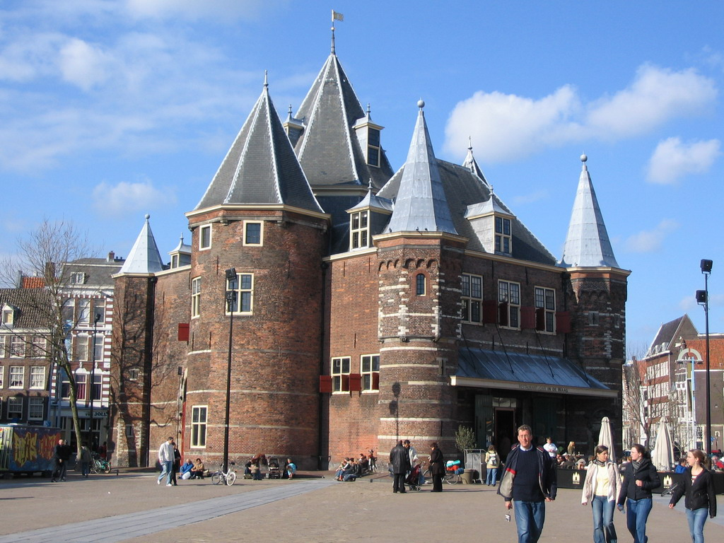 The Waag on the Nieuwmarkt square
