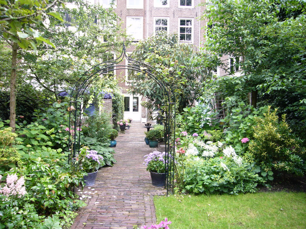 Garden of a building at the Herengracht street