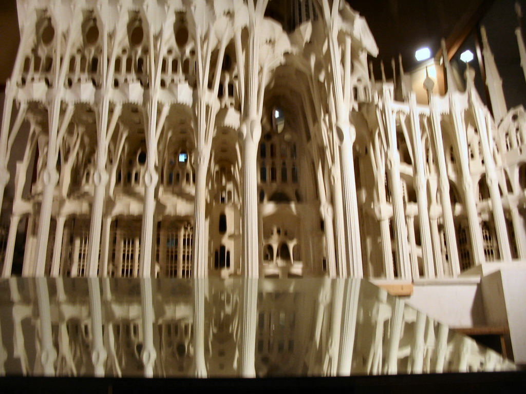 Scale model of the Sagrada Fam�lia church, in the Sagrada Fam�lia church