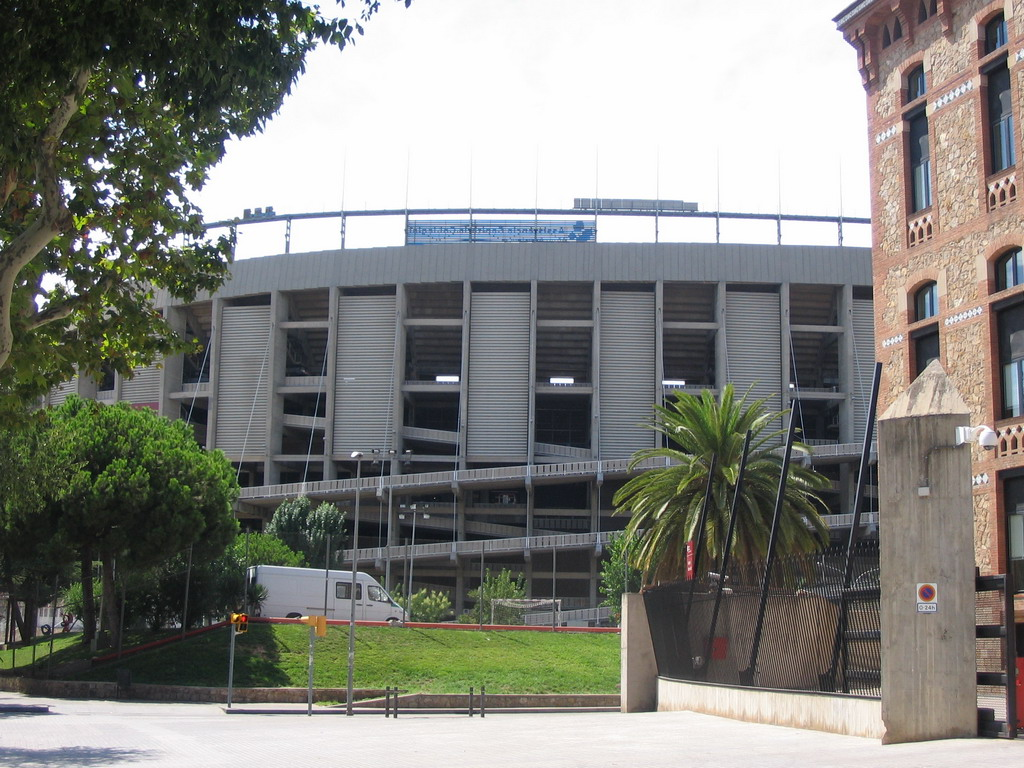 The football stadium `Camp Nou` of FC Barcelona