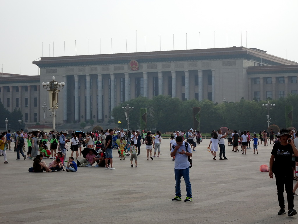 Front of the Great Hall of the People at Tiananmen Square