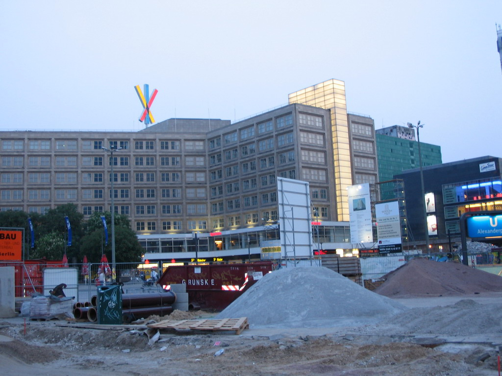 The Alexanderplatz square, under renovation