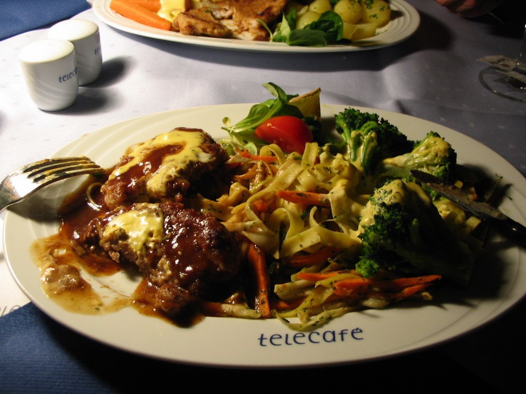 Our dinner in the Telecaf� restaurant on top of the Fernsehturm tower
