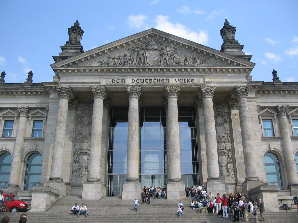 Front of the Reichstag building