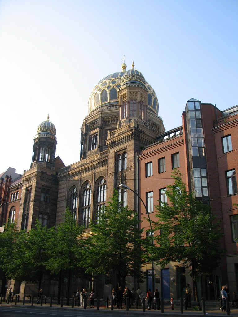Front of the New Synagogue at the Oranienburger Stra�e street