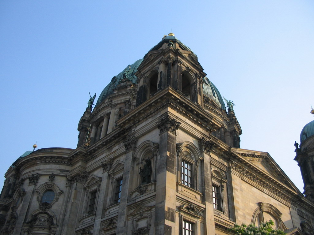 The Berlin Cathedral, viewed from the tour boat on the Spree river