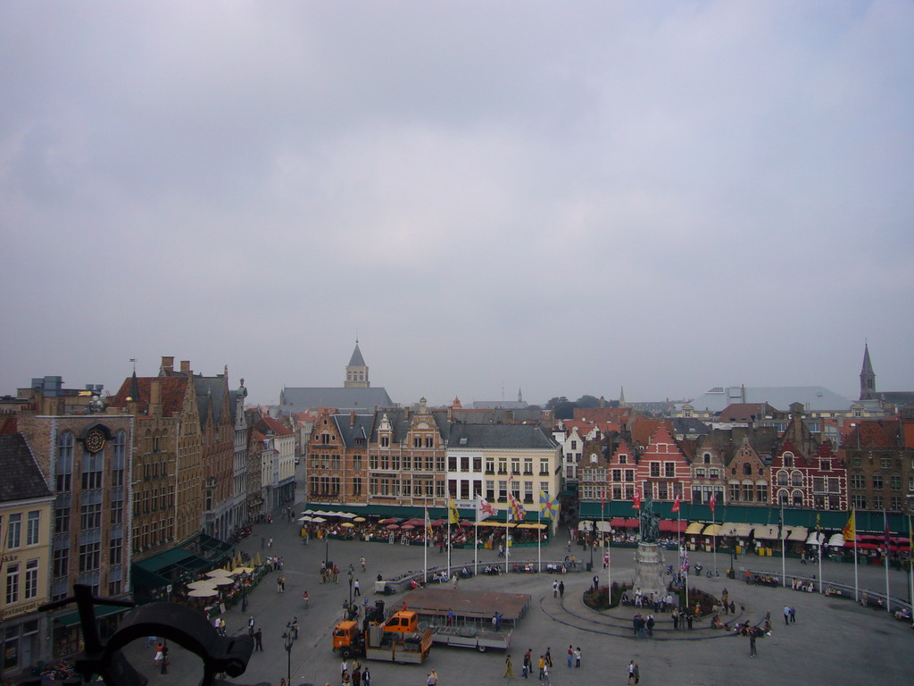 The Markt square, viewed from the third floor of the Belfort tower