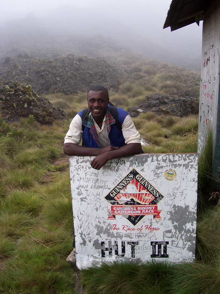 Our tour guide at Hut III near the top of Mount Cameroon