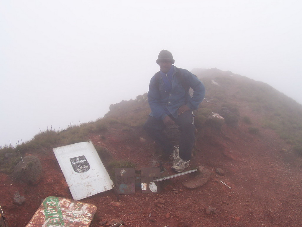 Our tour guide at the top of Mount Cameroon