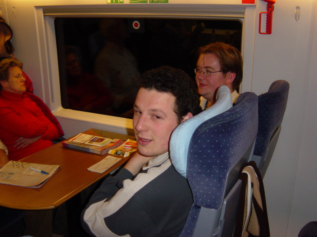Remco and Erik in the ICE train from Cologne to Arnhem
