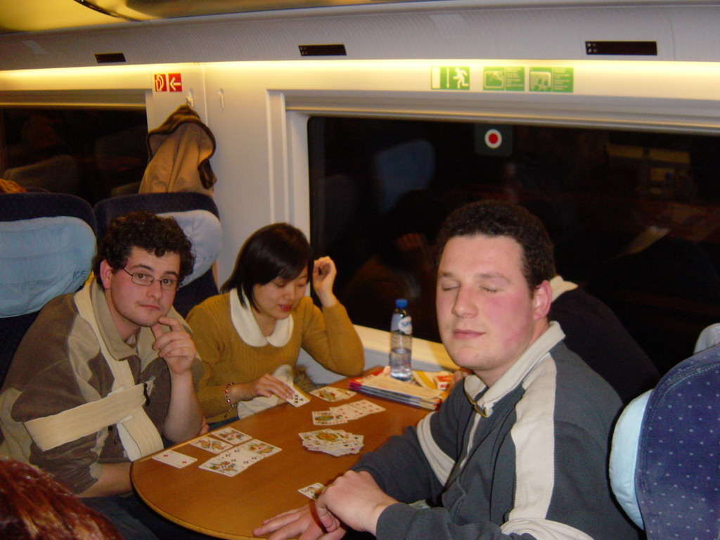 Erik, Remco and Erik in the ICE train from Cologne to Arnhem