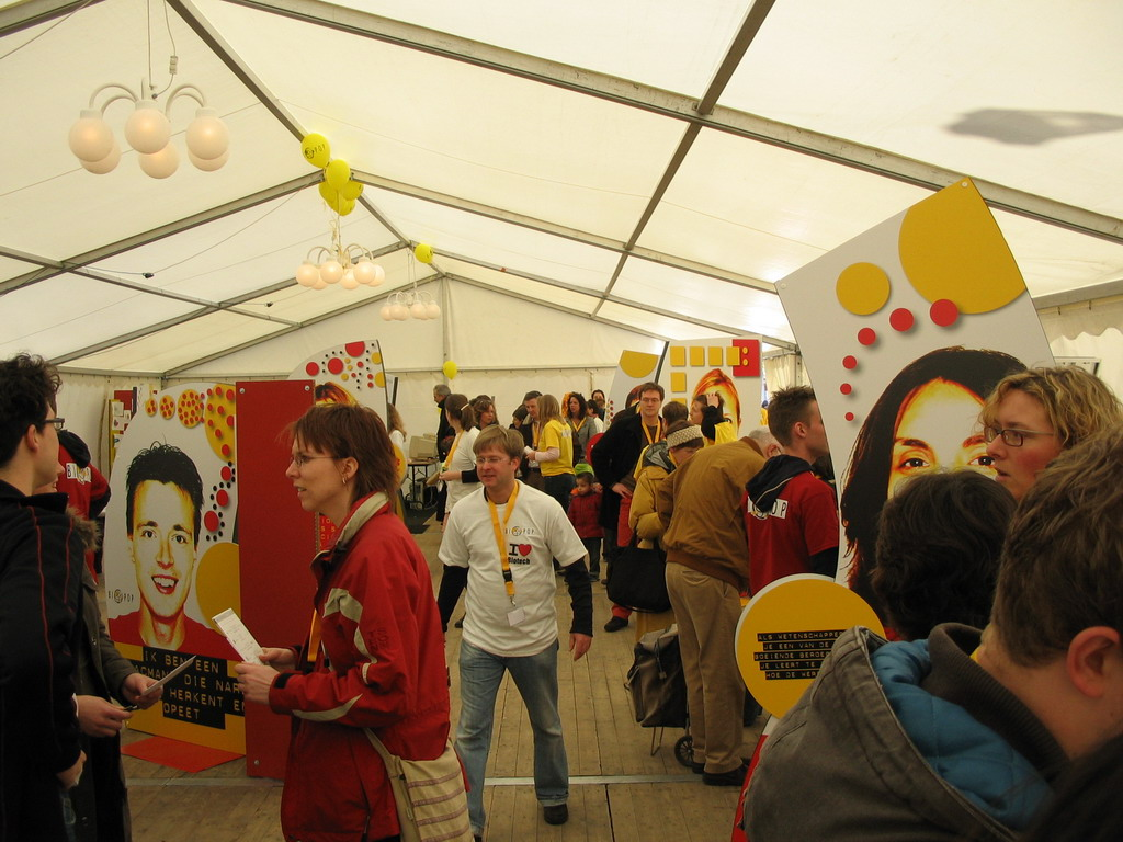Inside the BIOPOP tent