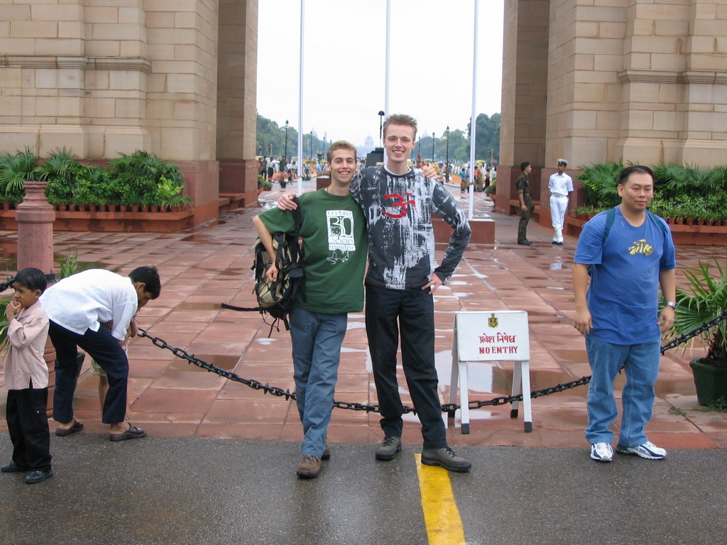 Rick and David in front of the east side of the India Gate