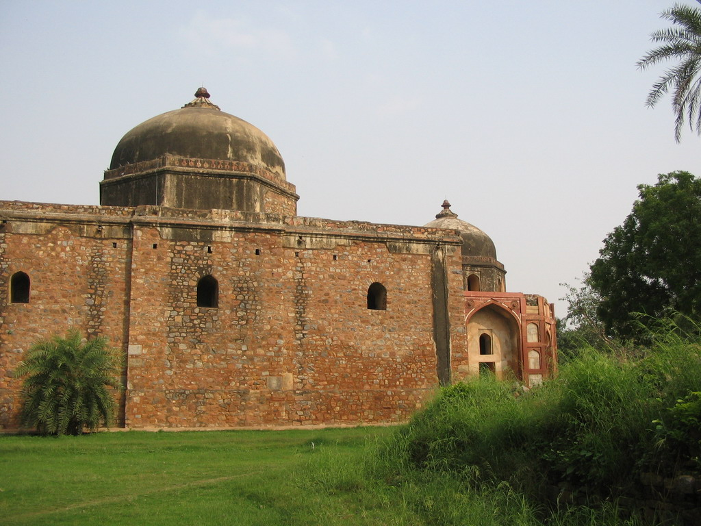 Afsarwala`s Tomb and Afsarwala`s Mosque at the Humayun`s Tomb complex