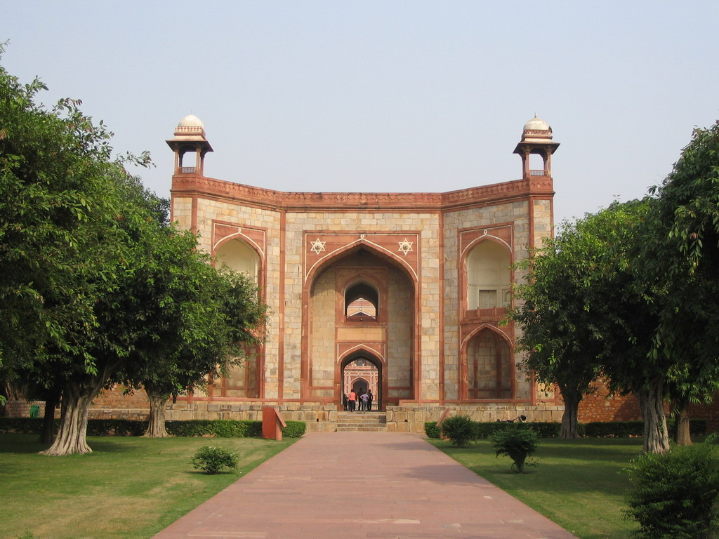 West gate to Humayun`s Tomb at the Humayun`s Tomb complex