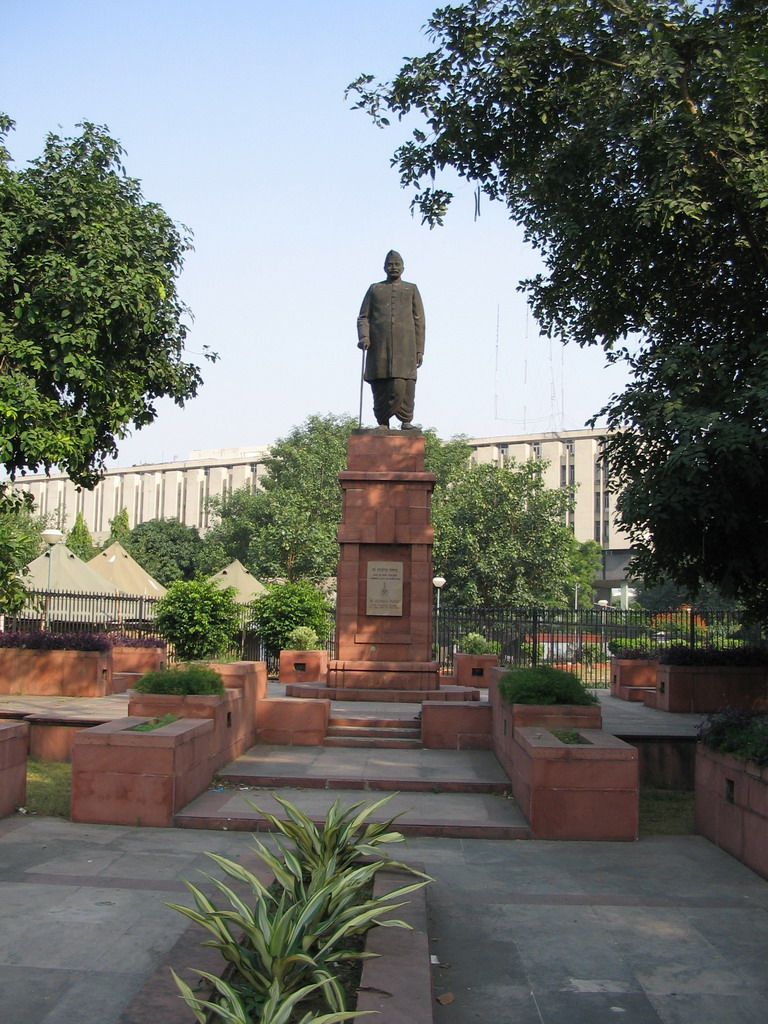 Statue of the first president of India, Rajendra Prasad, near the Parliament buildings