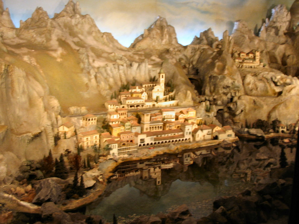 Miniature world at the Diorama attraction at the Marerijk kingdom