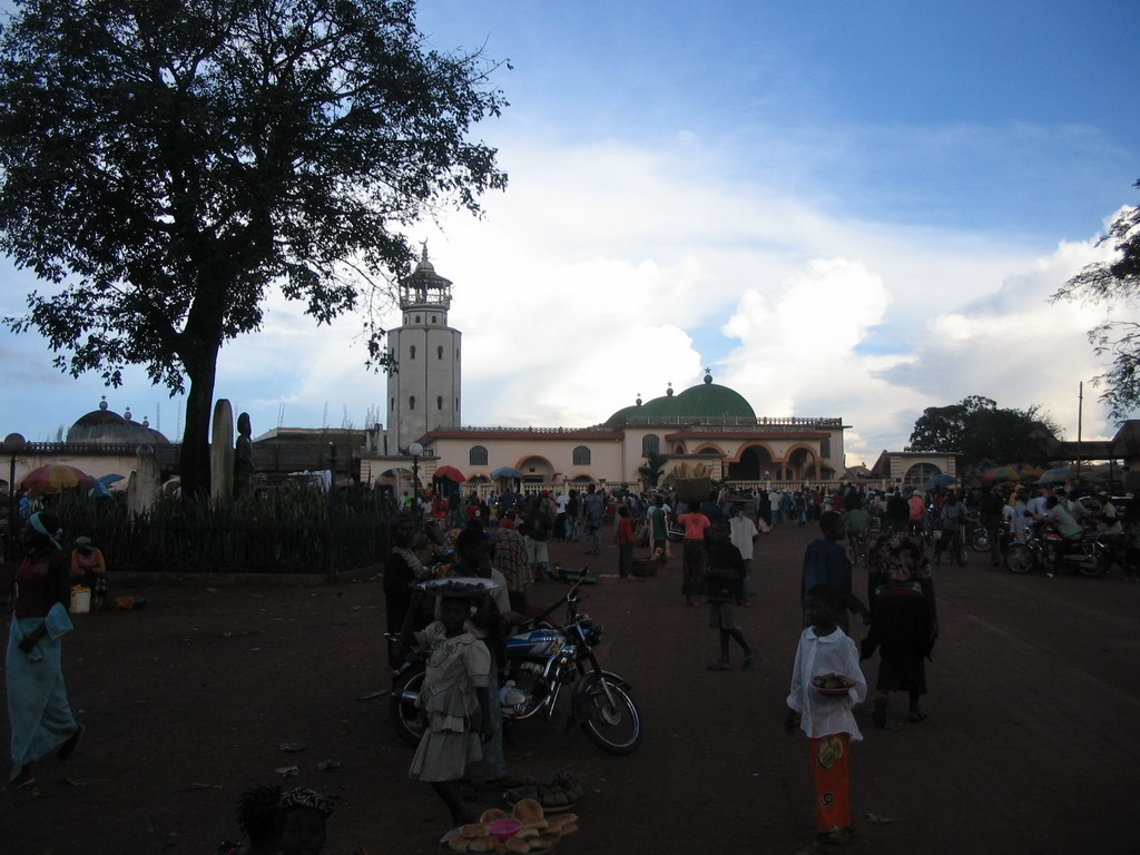 Street and mosque near the Foumban Royal Palace