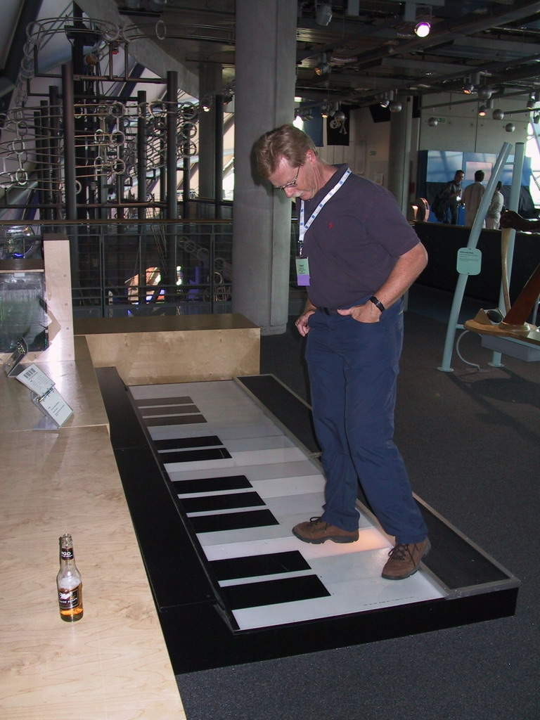 Large-size floor piano at the exhibition at the Glasgow Science Centre