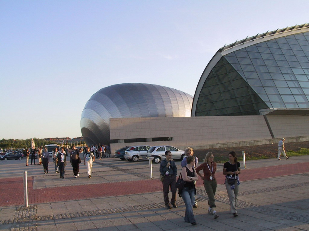 Front of the Glasgow Science Centre