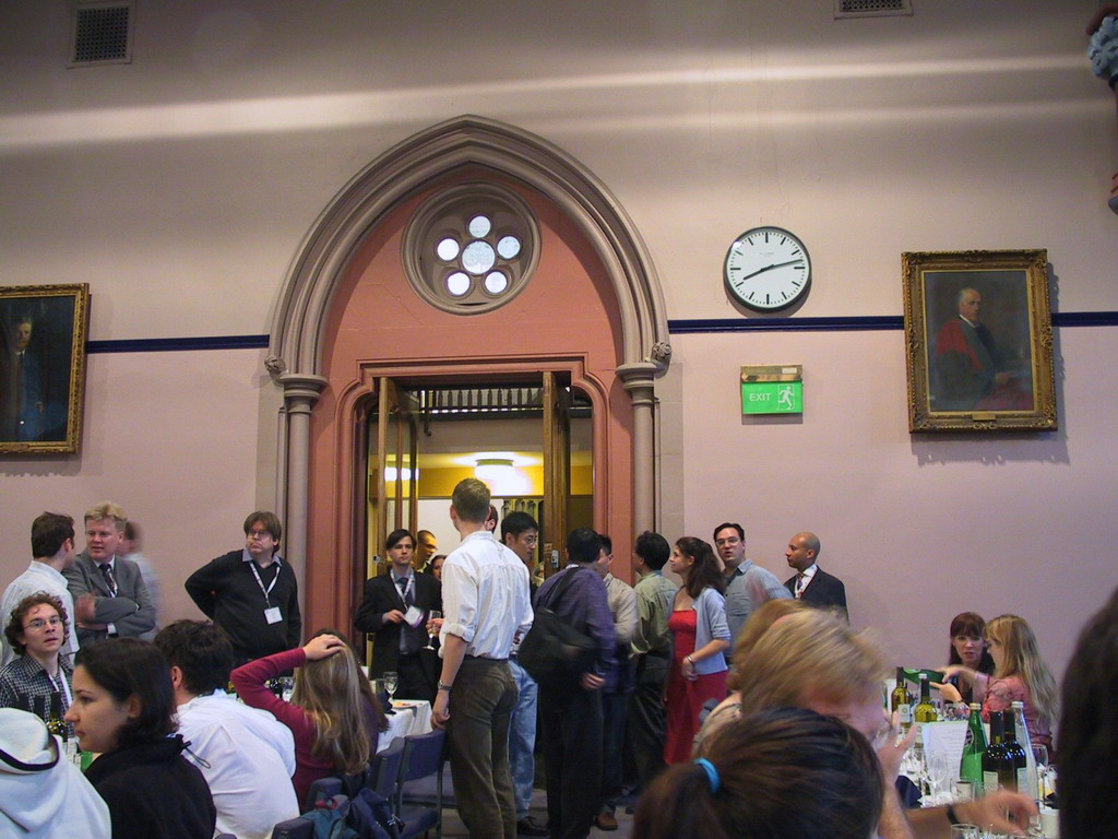Gala dinner of the ECCB 2004 conference at the University of Glasgow