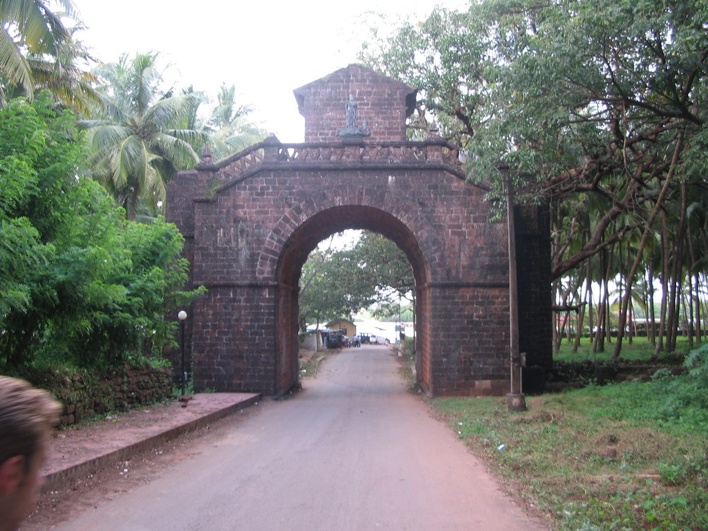 Back side of the Viceroy`s Arch at Old Goa