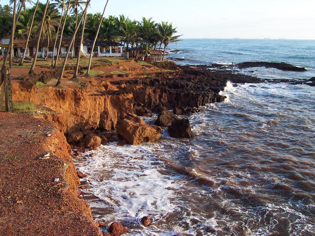 Cliffs at Anjuna Beach