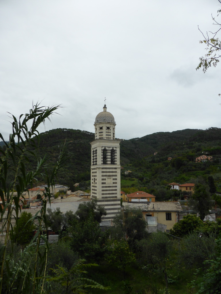 The Chiesa di Sant`Andrea church and surroundings, viewed from the Levanto Castle