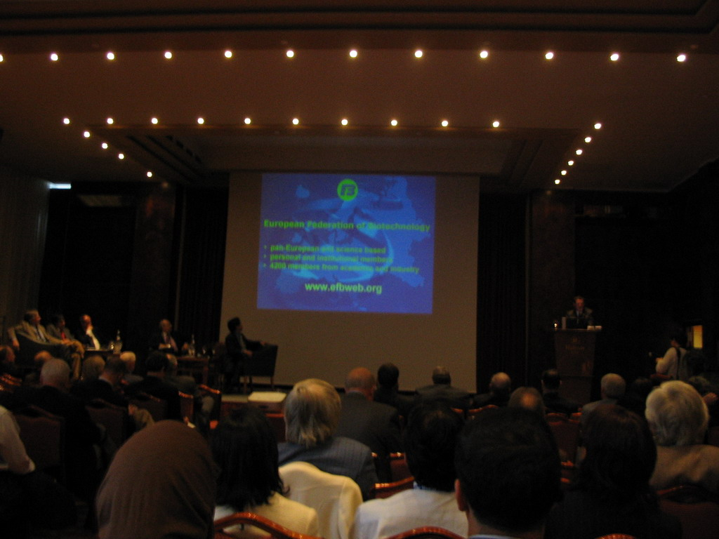 Presentation of the European Federation of Biotechnology at the World Life Sciences Forum BioVision 2005 conference, at the Centre Congr�s de Lyon conference center