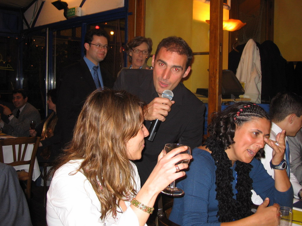Singer and friends during the opening dinner of the World Life Sciences Forum BioVision 2005 conference