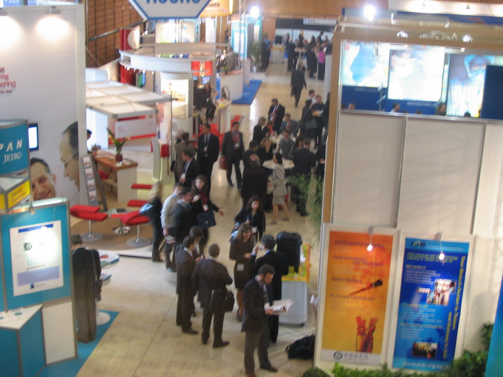 Stands at the World Life Sciences Forum BioVision 2005 conference, at the Centre Congr�s de Lyon conference center