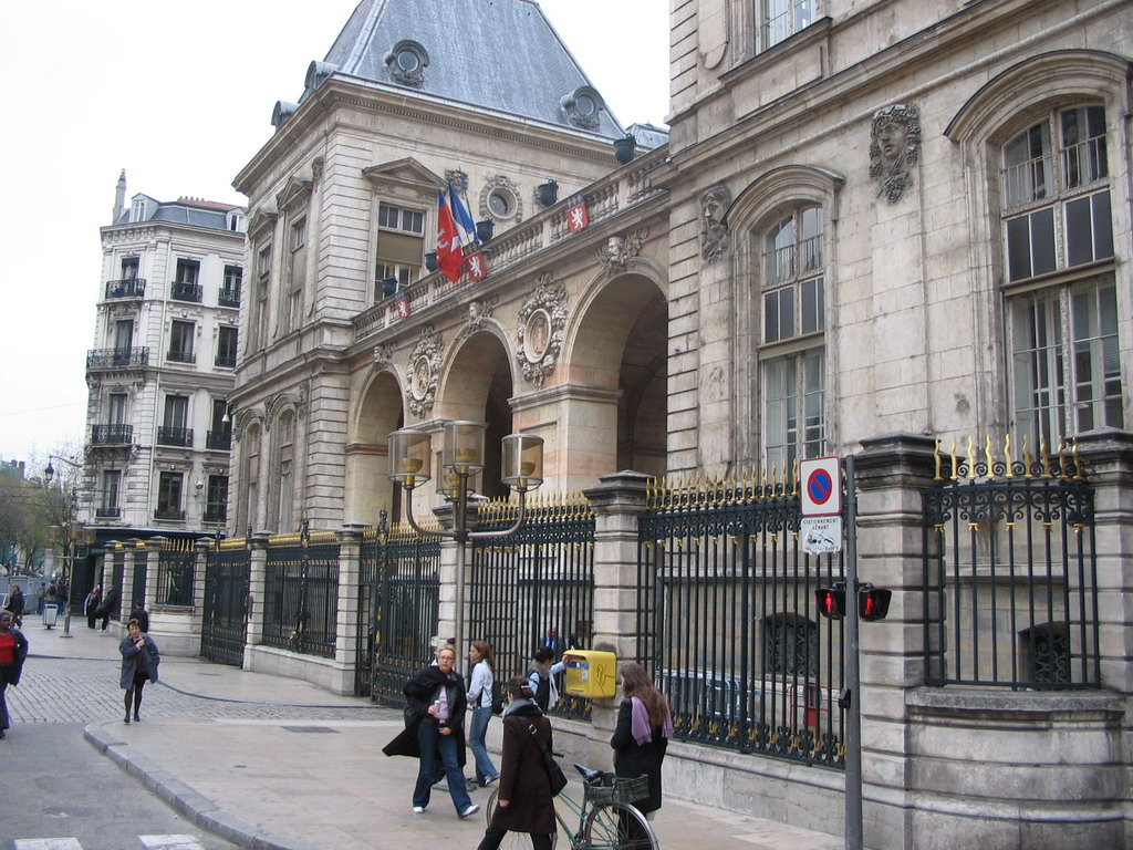 East side of the City Hall at the Place de la Com�die square