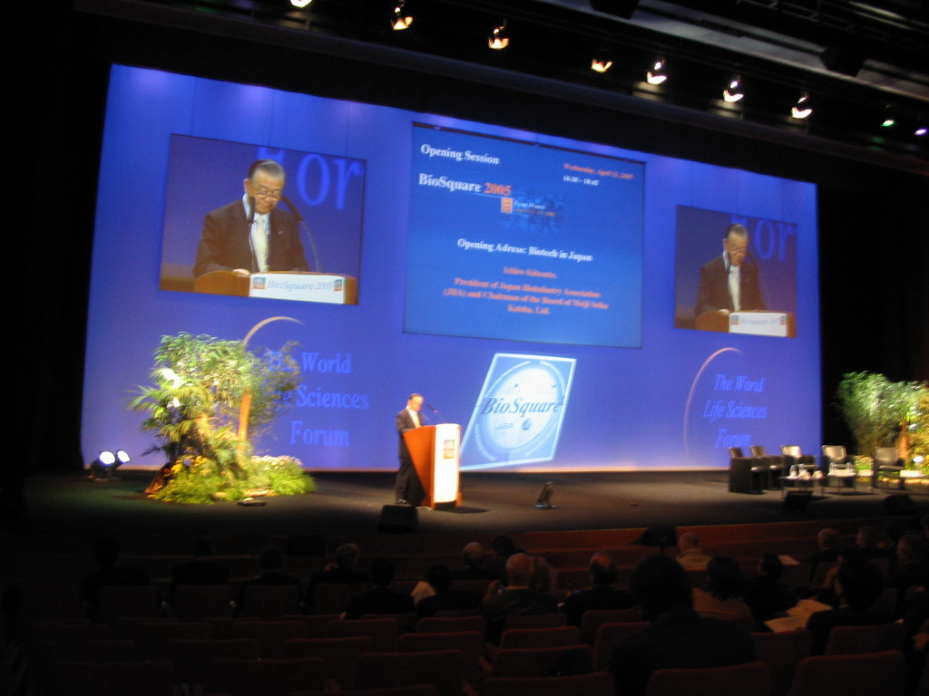 Opening session of BioSquare 2005 at the World Life Sciences Forum BioVision 2005 conference, at the Centre Congr�s de Lyon conference center