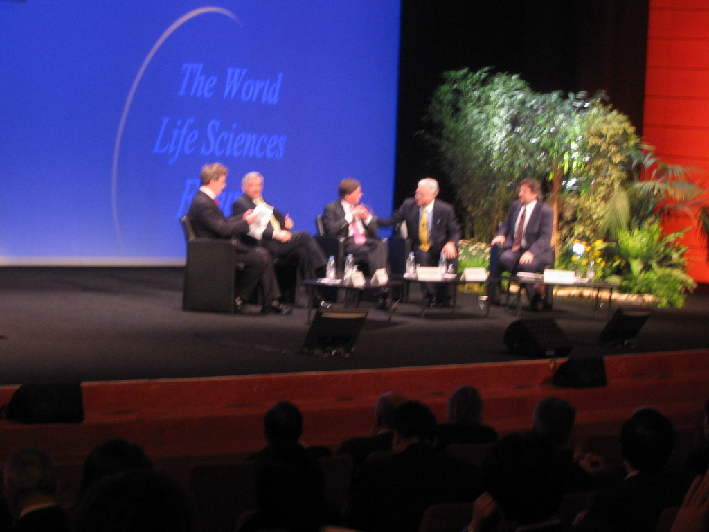 Panel discussion at the World Life Sciences Forum BioVision 2005 conference, at the Centre Congr�s de Lyon conference center