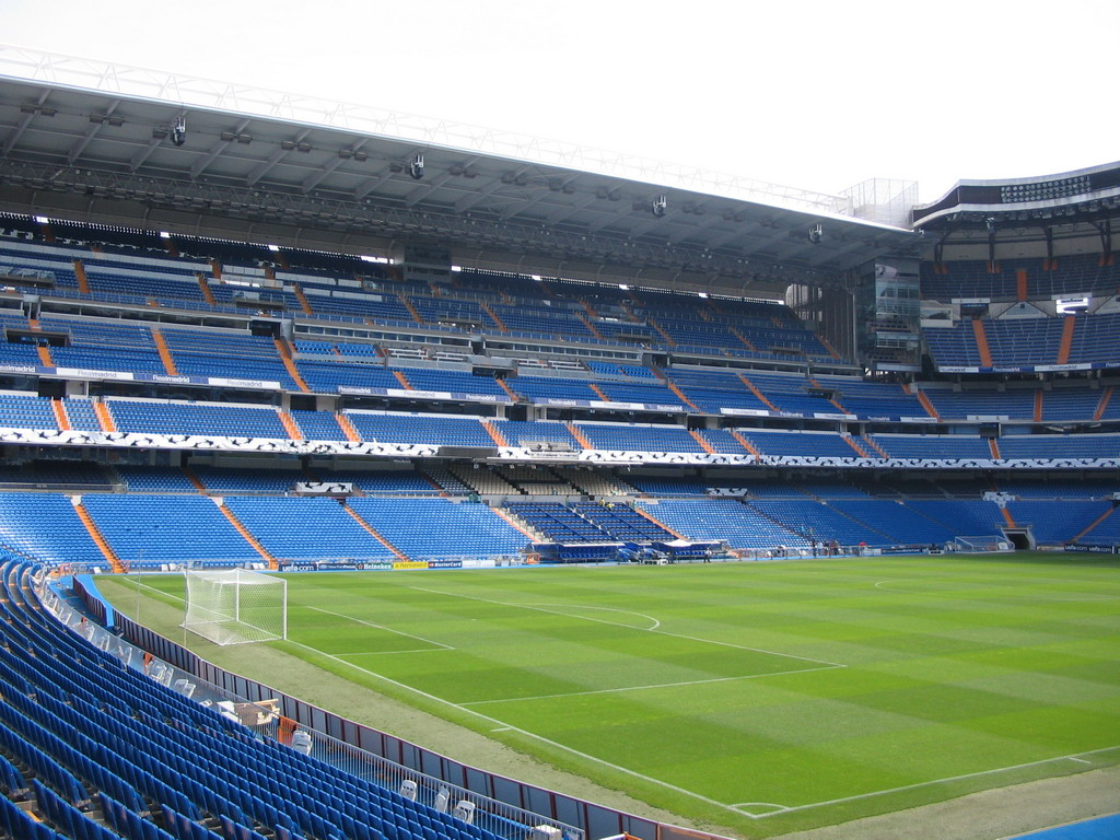 Inside the Santiago Bernab�u stadium