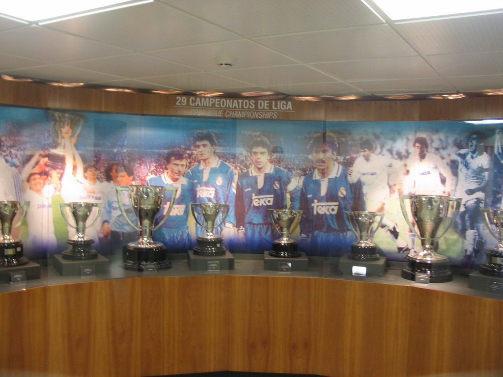 Spanish Championship Cups, in the museum of the Santiago Bernab�u stadium