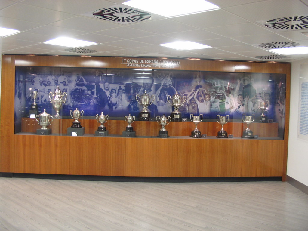 Spanish Cups, in the museum of the Santiago Bernab�u stadium