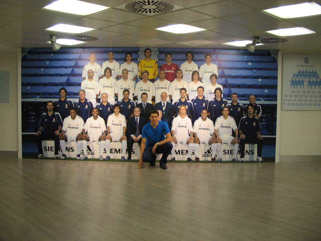 Tim at the players` photo for season 2005-2006, in the museum of the Santiago Bernab�u stadium