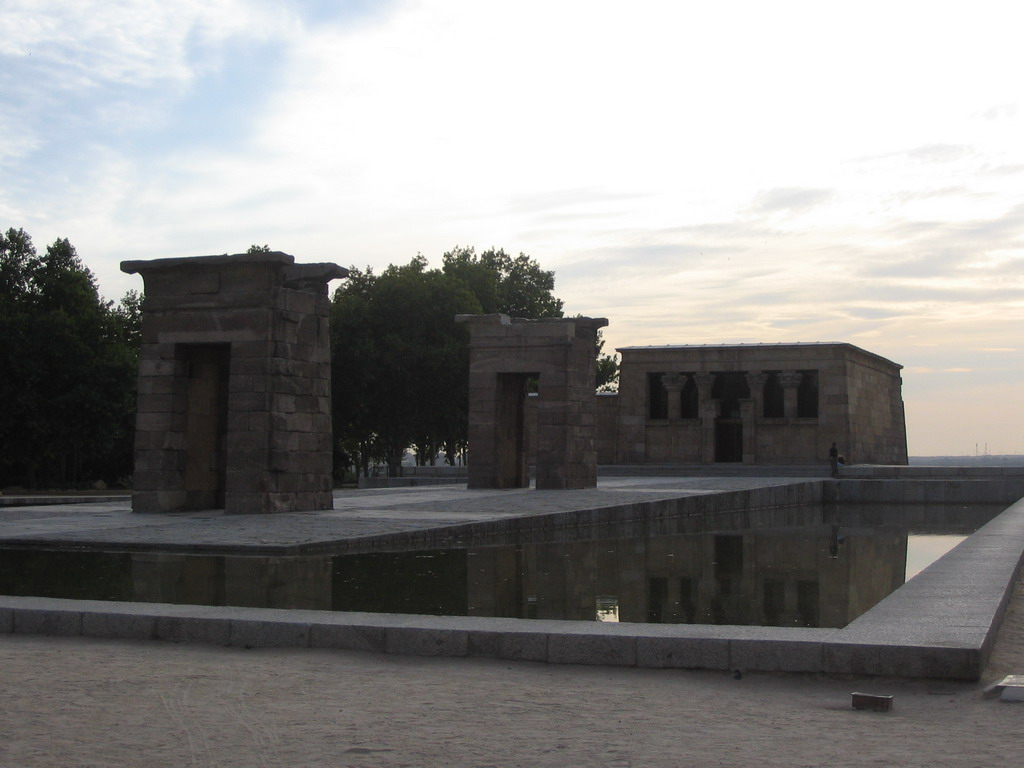 The Egyptian Temple of Debod in the Parque del Oeste park