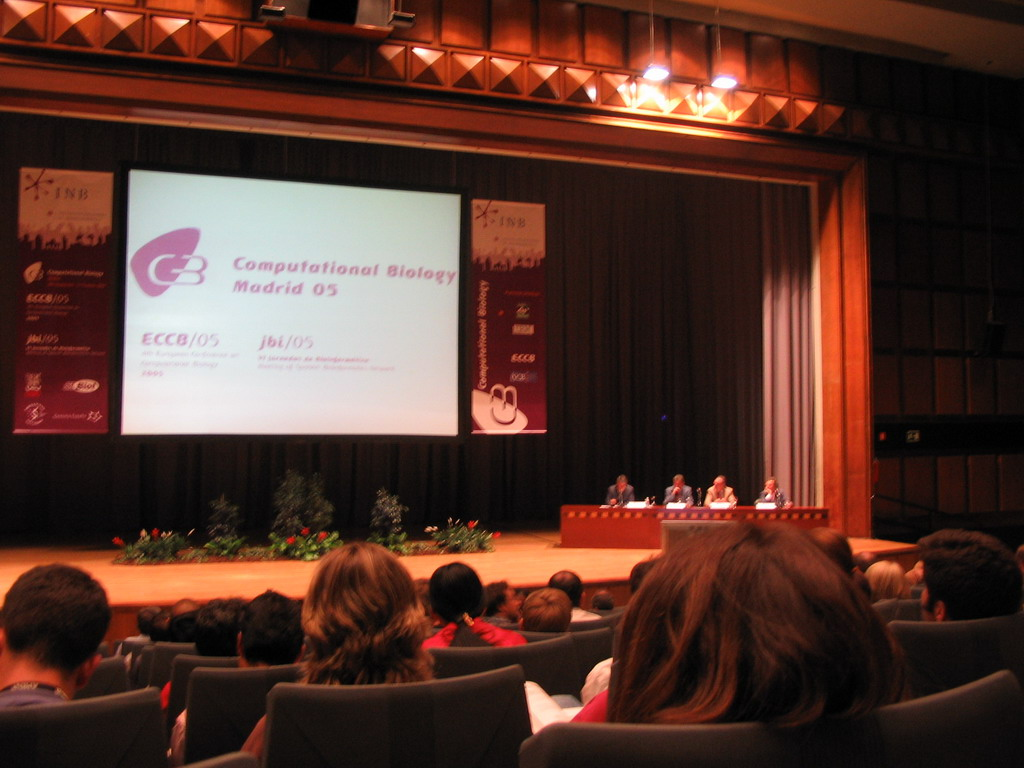 The opening of the ECCB 2005 conference, at the Palacio de Congresos de Madrid building