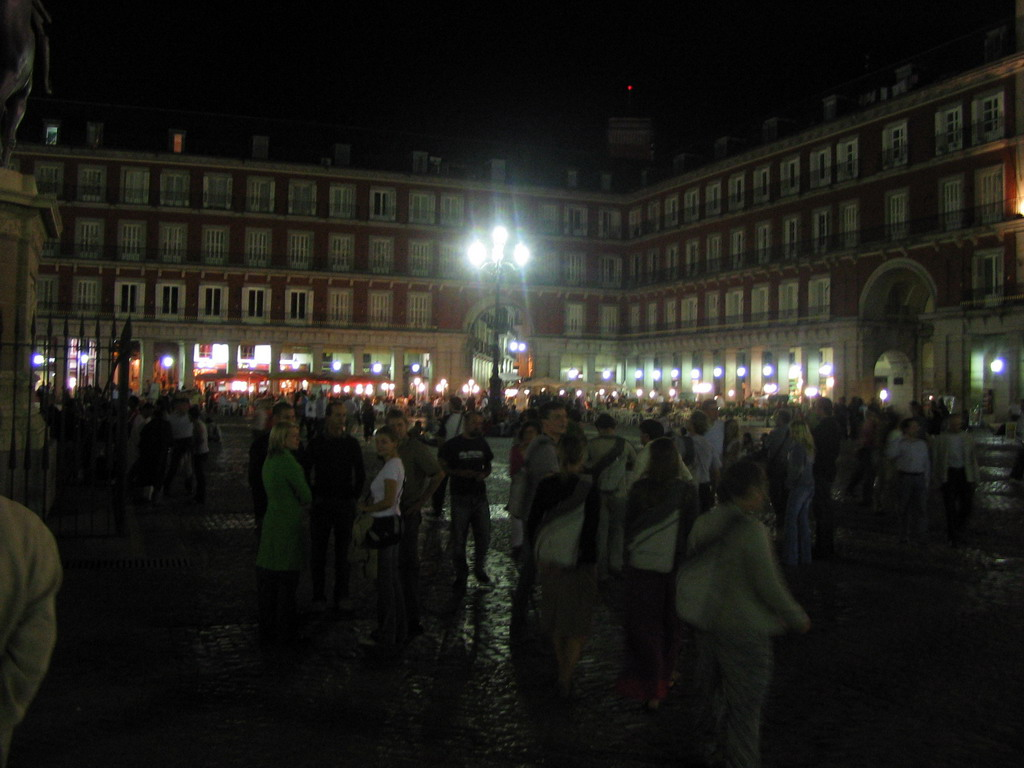 The Plaza Mayor square, by night