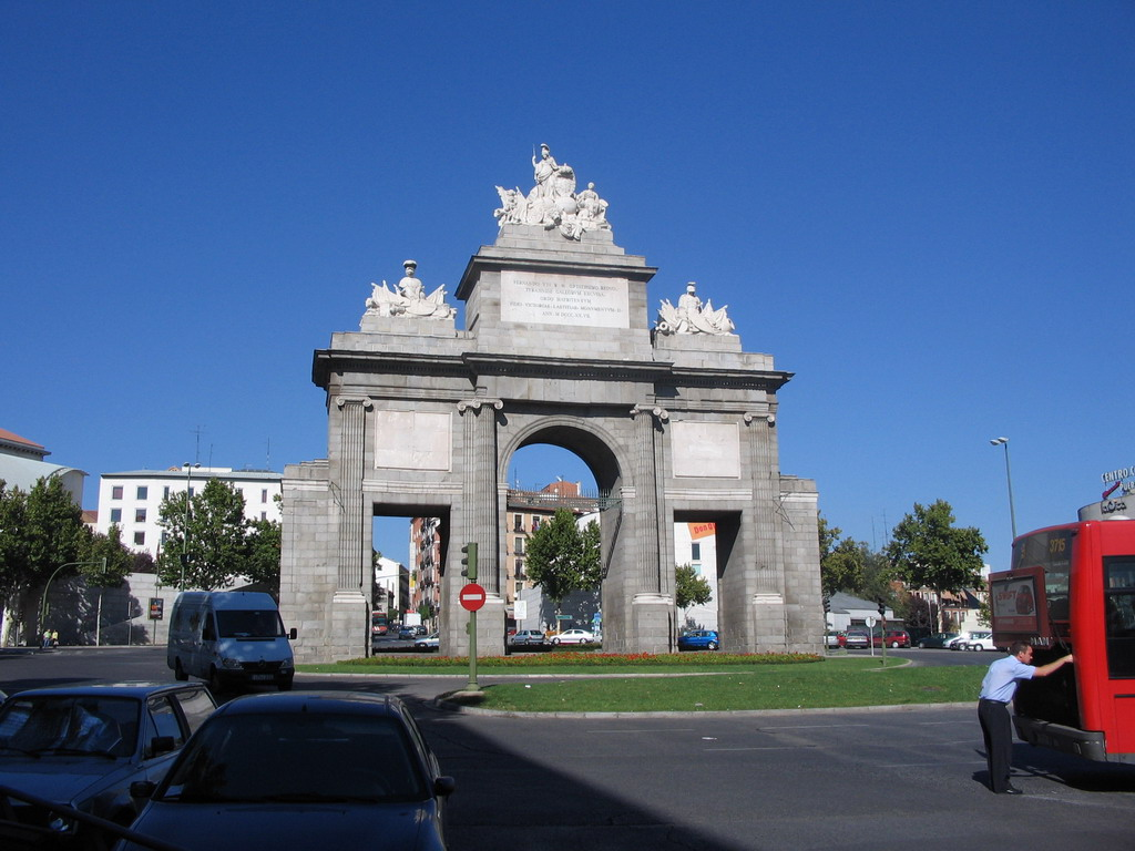 The Puerta de Toledo gate at the Glorieta Puerta de Toledo square